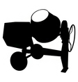 cement mixer silhouette vector image vector image