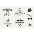 Hipster emblems labels badges vector image vector image