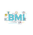 BMI Body Mass Index word vector image