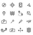 line navigation icon set vector image