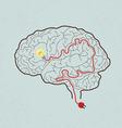 Brain Bulb vector image