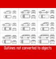 car sedan and suv and van all view drawing vector image
