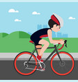 cycling athletic sport cartoon set vector image