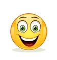 Emoticon with big toothy smile vector image