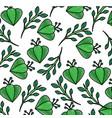 green flower branch leaves bloom decoration vector image