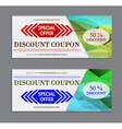 Labels template set discount coupon template with vector image