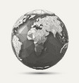 line poly earth vector image