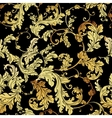 Luxury vintage golden seamless background vector image