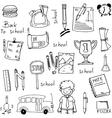 School education hand draw doodles vector image