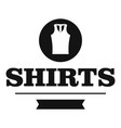 shirt logo simple black style vector image