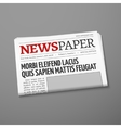 Realistic daily newspaper front page vector image
