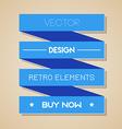 blue retro ribbon Flat design vector image