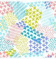 hand painted seamless pattern vector image vector image