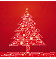 christmas tree made of electronics elements vect vector image