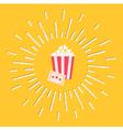 Popcorn ticket shining effect Flat design vector image