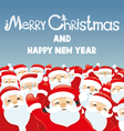 Cheerful Santa Clauses vector image