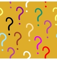 colorful question marks pattern vector image