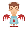 devil businessman vector image