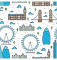 line london bridges skylines and sights seamless vector image