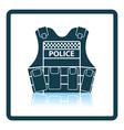 Police vest icon vector image