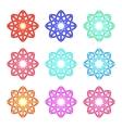 set of color mandalas vector image