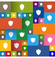 set of modern shields on the flat panels vector image