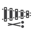 xylophone glyph icon music and instrument vector image