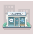 Building laundry flat design Washing mashine vector image