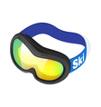 Isometric 3d of snow goggles vector image