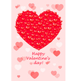 Happy Valentines Day - card with hearts vector image vector image