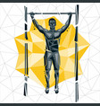 Geometric crossfit concept vector image