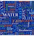 Seamless tag cloud with water words vector image vector image