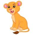 Cute lioness cartoon vector image
