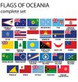 flags of Oceania vector image