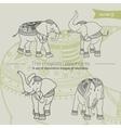 majestic elefants vector image