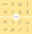 Bakery set vector image
