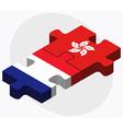 France and Hong Kong SAR China vector image