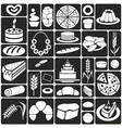 Baking icons on black vector image