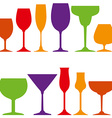 tumblers icons vector image