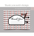 Thank you Note - Direction sign from Wonderland vector image
