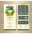 Watercolor cocktails menu design vector image