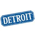 Detroit blue square grunge retro style sign vector image