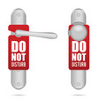 do not disturb design on door in silver vector image