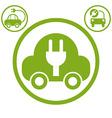 Electric car simple icon vector image