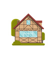 Half-timbered Wooden Cottage vector image