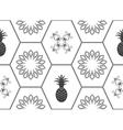 Honeycomb floor tile seamless pattern vector image