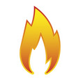 sign red flame icon isolated on white vector image