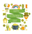 flat poster for StPatricks day vector image