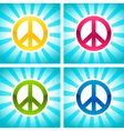 Colorful Peace Signs vector image