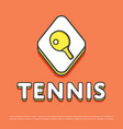 tennis sport icon with ping pong paddle